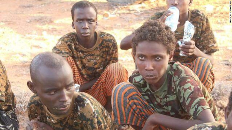 Child soldiers who surrendered in Puntland in March. (Photo: Puntland State TV)