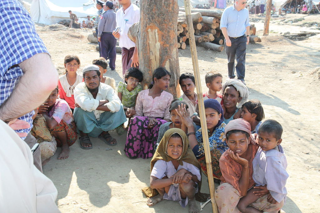 Displaced Rohingya people (via wikipedia)