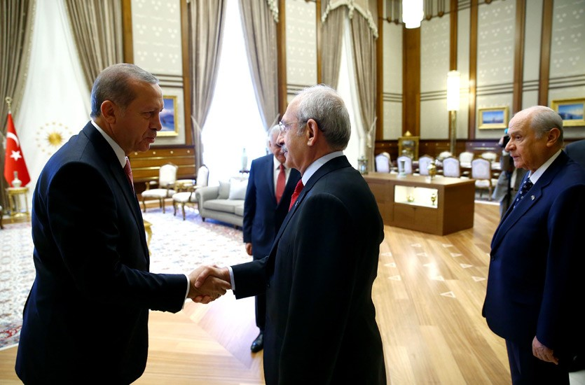 Erdogan and Kilicdaroglu at the Presidential Palace (Image by tccb.gov.tr)