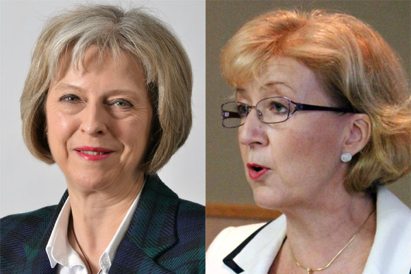 (L-R) Front-runner, Theresa May and controversial Andrea Leadsom. Source: Wikimedia