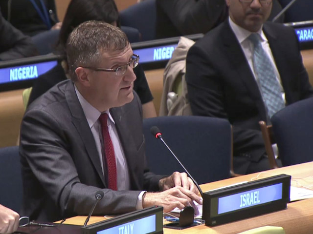 Amb David Roet addresses the UN Security Council
