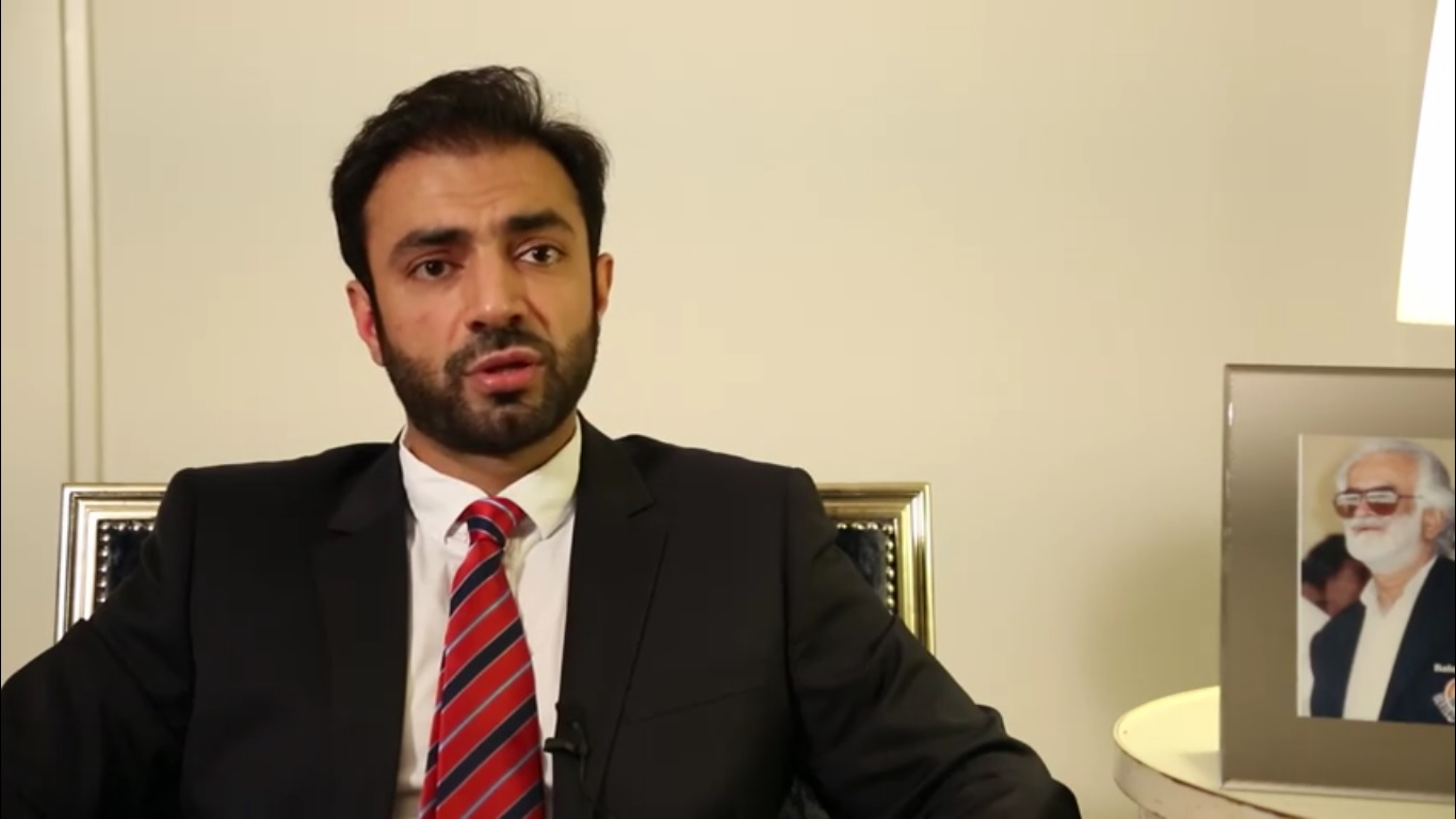Baloch Leader Seeking Indian Support [photo from the video released by Bugti's office] Baloch nationalist leader seeks Indian support
