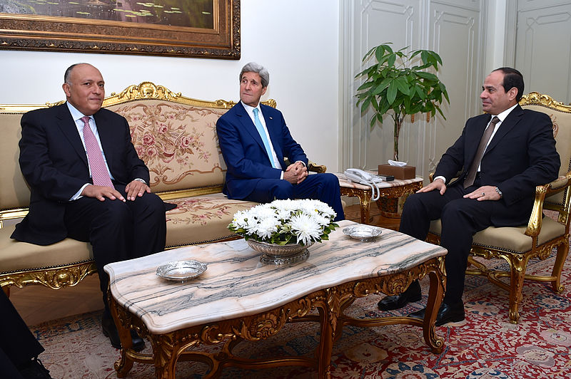 Secretary_Kerry,_Egyptian_Foreign_Minister_Shoukry_Discuss_Gaza_Ceasefire_With_Egyptian_President_al-Sisi_in_Cairo
