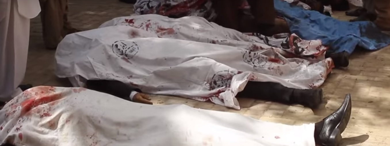 Corpses of lawyers killed in Quetta suicide attack [Photo from Aljazeera video photoage]