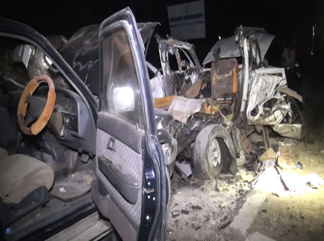 Footage from the scene of the blast showed cars charred and wrecked from the explosion (Photo: State Media)