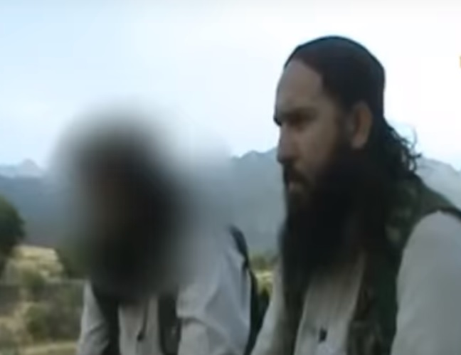 The IS AFPak chapter leader Hafiz Sayed Khan [Photo from a Taliban file video]
