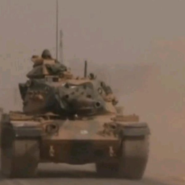 Turkish tanks near Jarablus (Image : screenshot)