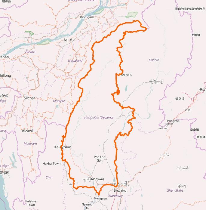 Sagaing region (Image : Open Street Map/screenshot) Undiagnosed disease in Myanmar