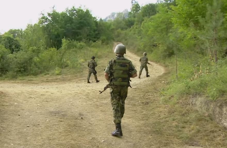 Serbian military investigates border regions (Image : Screenshot)
