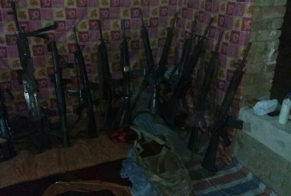 Arms stock, Taliban claimed have handled after Kunduz attack that killed 13 security personnel [Photo by Taliban spokesman]