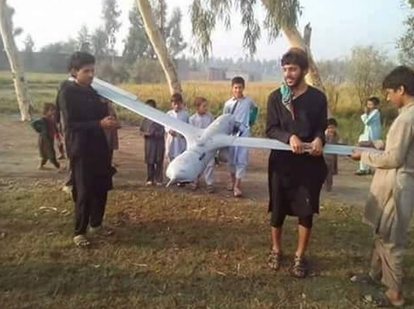 US drone downed in Nangarhar [Taliban release the photo]