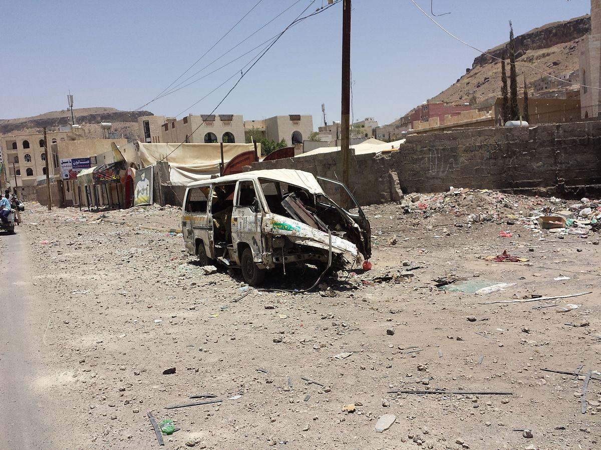 Sana'a, Yemen after an airstrike in 2015 (Image by Ibrahem Qasim/CC BY-SA 4.0)