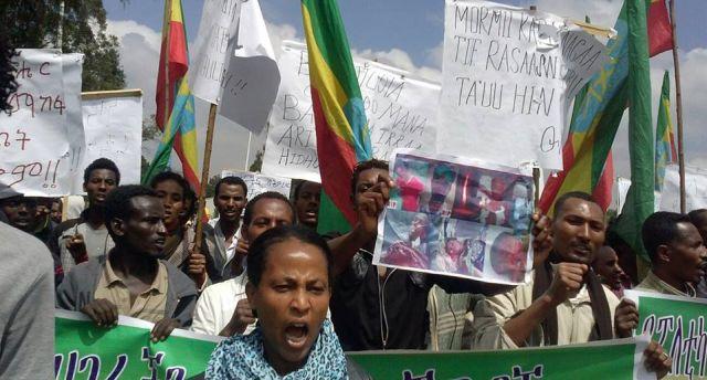 Oromo Protest 2014. Photo. Flickr, Gadaa.com.