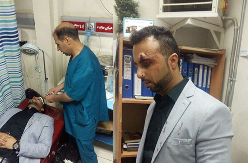 Abdul Saboor Sarir, the wounded journalist [Photo released by Afghanistan Times]