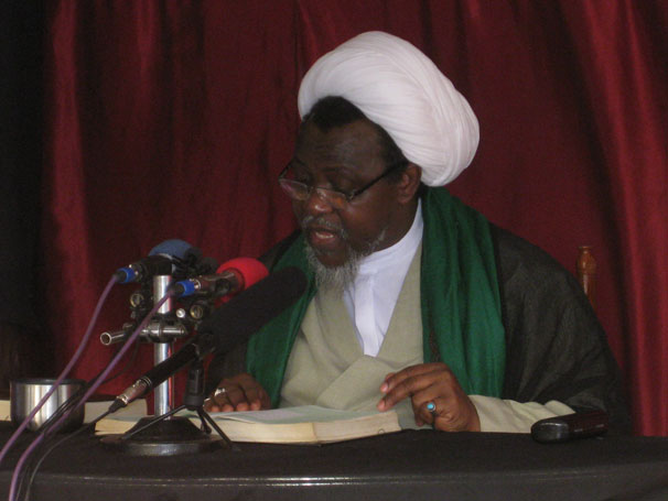 Zakzaky addressing his followers in 2013 in Kaduna, Nigeria (Image by Tajo Malli/CC BY-SA 3.0)